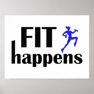 Fit Happens Workout Motivation Poster