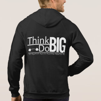 Fit Men's Think and Do Big Sleeveless Zip Hoodie