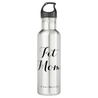 'Fit Mom' 24oz Stainless Steel Water Bottle