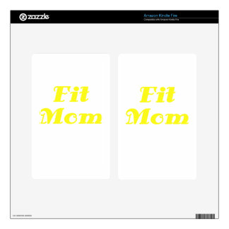 Fit Mom Decal For Kindle Fire