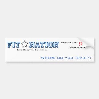 Fit nation bumper bumper sticker