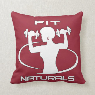Fit Naturals- White Throw Pillow