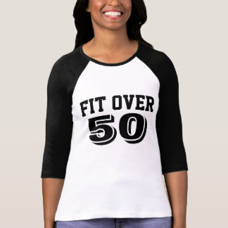 Fit Over 50 3/4 Length Sleeve Sport Jersey T-Shirt