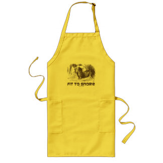 Fit To Snore Red King Snoring Sleeping Wonderland Long Apron