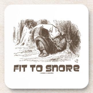 Fit To Snore Snoring Sleeping Red King Wonderland Coasters