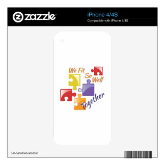 Fit Well Together iPhone 4S Skins