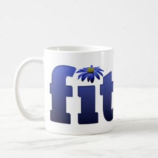Fit with blue flower coffee mug