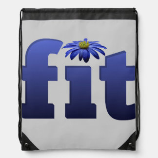 Fit with blue flower drawstring bag