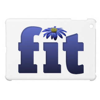 Fit with blue flower iPad mini cover