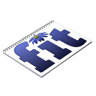 Fit with blue flower notebook