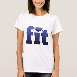Fit with blue flower T-Shirt
