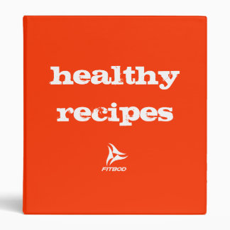 "FITBOD ""healthy recipes"" binder"