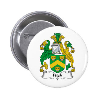 Fitch Family Crest 2 Inch Round Button
