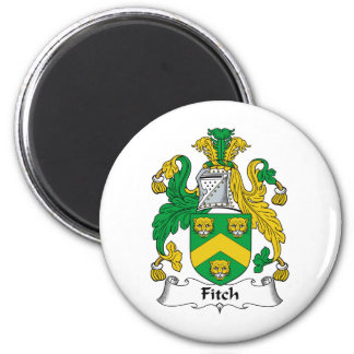 Fitch Family Crest 2 Inch Round Magnet