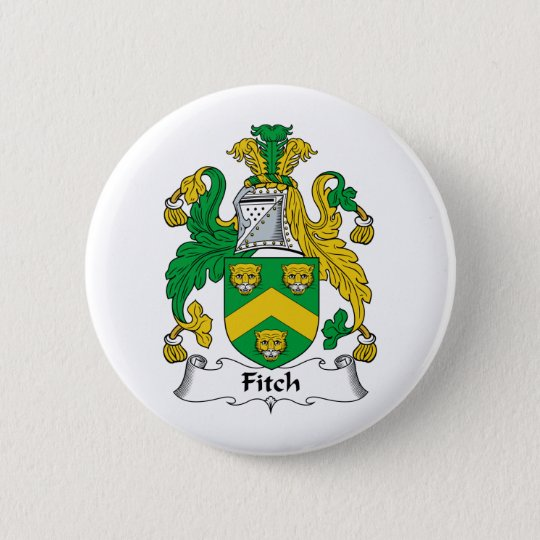 Fitch Family Crest Pinback Button