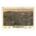 Fitchburg, Massachusetts en 1882 Tarjeta Postal