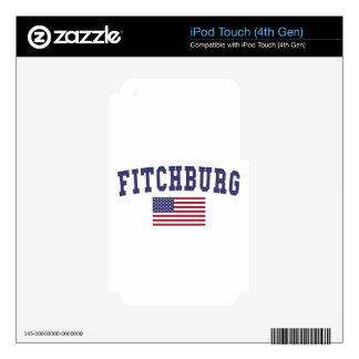 Fitchburg US Flag Decal For iPod Touch 4G