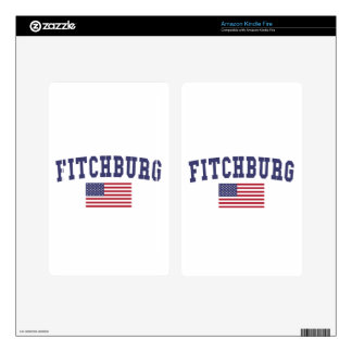 Fitchburg US Flag Kindle Fire Skins