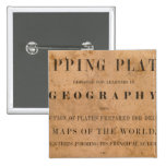 Fitch's mapping plates 2 inch square button