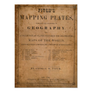 Fitch's mapping plates print