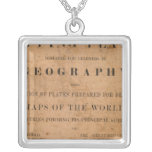Fitch's mapping plates square pendant necklace