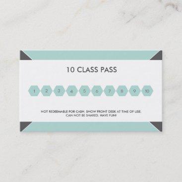 Fitness 10 Class Pass Business Card