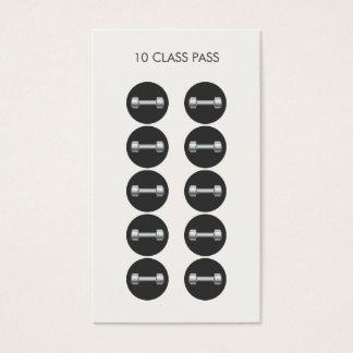 Fitness 10 Class Pass Card