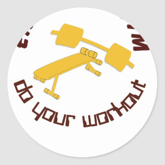 Fitness 1.png classic round sticker