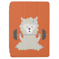 Fitness Alpaca with Weights iPad Air Cover
