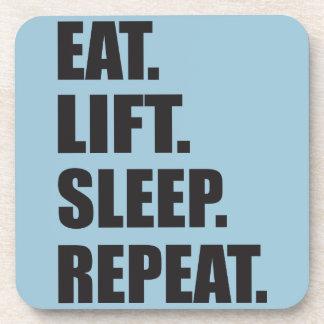 Fitness and Bodybuilding Motivation Beverage Coaster