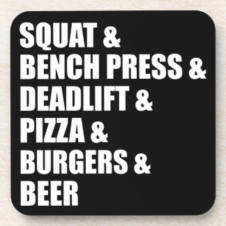 Fitness and Bodybuilding, Powerlifting Beverage Coaster