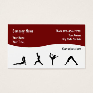 Fitness And Yoga Business Cards