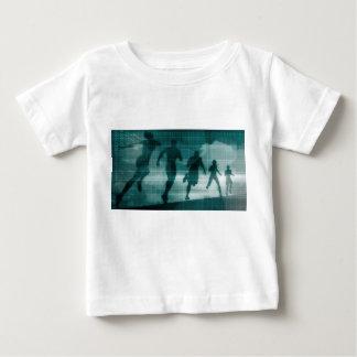 Fitness App Tracker Software Silhouette Illustrati Baby T-Shirt