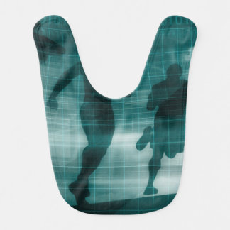 Fitness App Tracker Software Silhouette Illustrati Bib