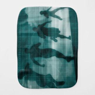 Fitness App Tracker Software Silhouette Illustrati Burp Cloth