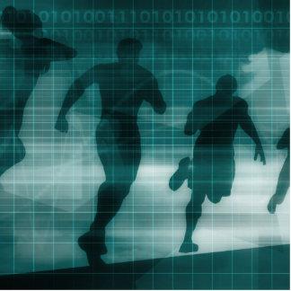 Fitness App Tracker Software Silhouette Illustrati Cutout