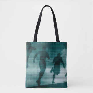 Fitness App Tracker Software Silhouette Tote Bag