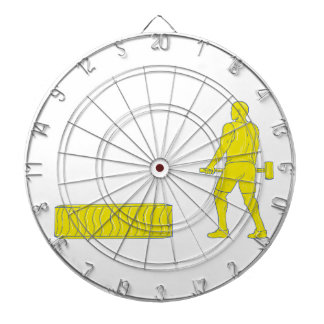 Fitness Athlete Hammer Workout Drawing Dart Board
