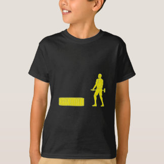 Fitness Athlete Hammer Workout Drawing T-Shirt