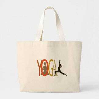 Fitness Athletic Yoga Instructor Large Tote Bag