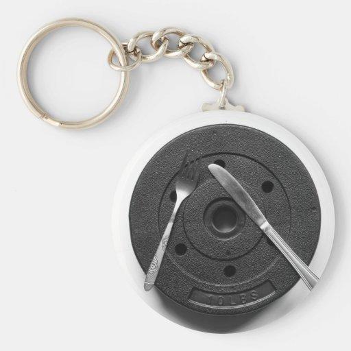 Fitness Basic Round Button Keychain