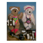 Fitness bears postcards