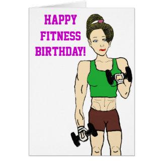 Fitness birthday card
