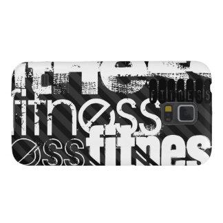 Fitness; Black & Dark Gray Stripes Galaxy S5 Cover