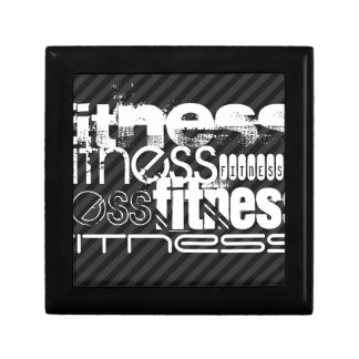 Fitness; Black & Dark Gray Stripes Gift Box