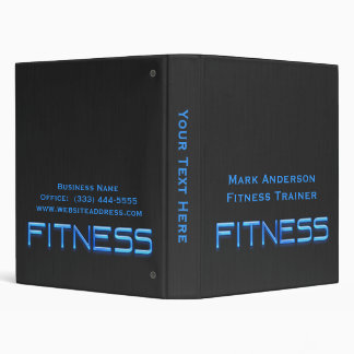 Fitness Blue, Black Binder 1""