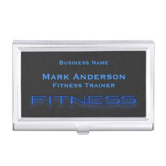 Fitness Blue, Black Business Card Holder