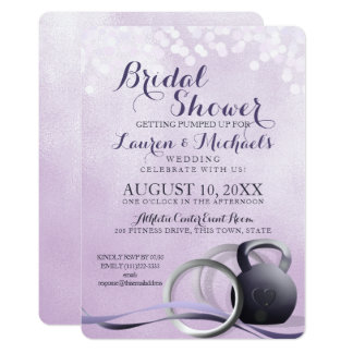 Fitness Body Building Bridal Shower Card