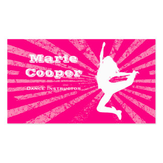 Fitness Business Card Dance Pink