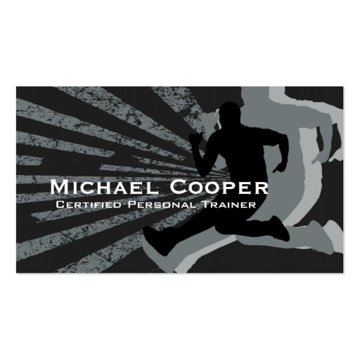Fitness Business Card Gray